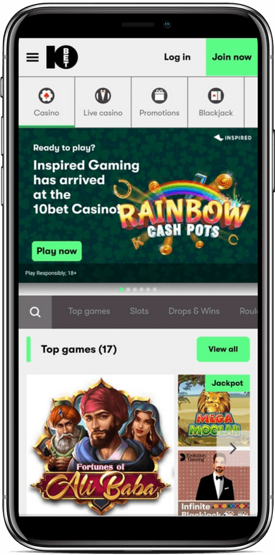 Casino Mobile 10bet