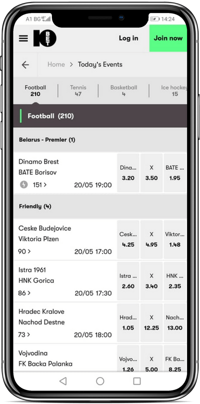 Events Mobile 10bet