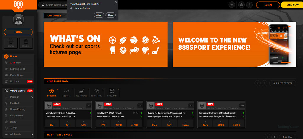 Design and Navigation of 888sports