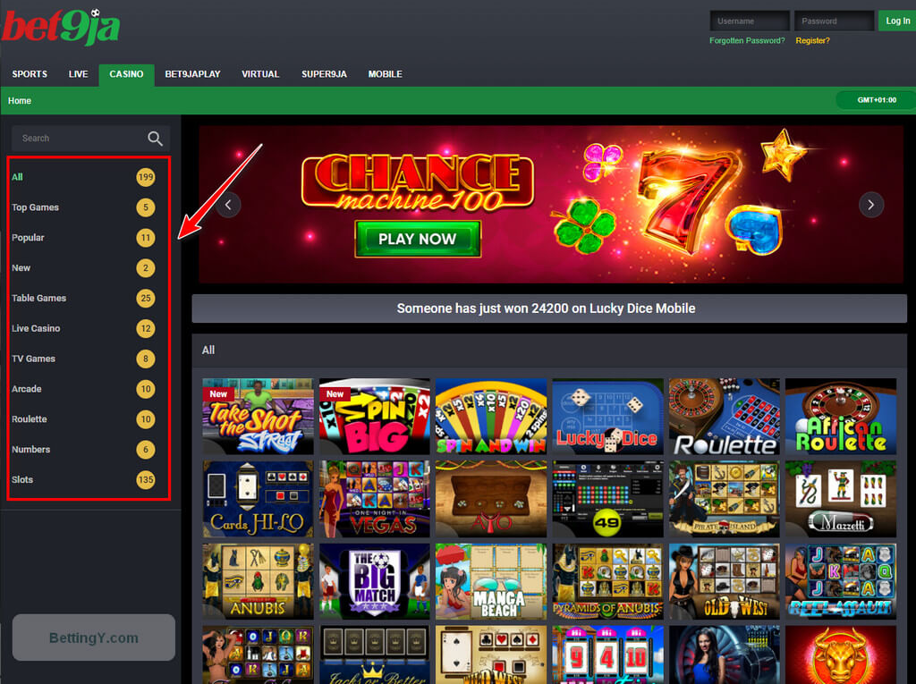 Common subjects for slot games at Bet9ja