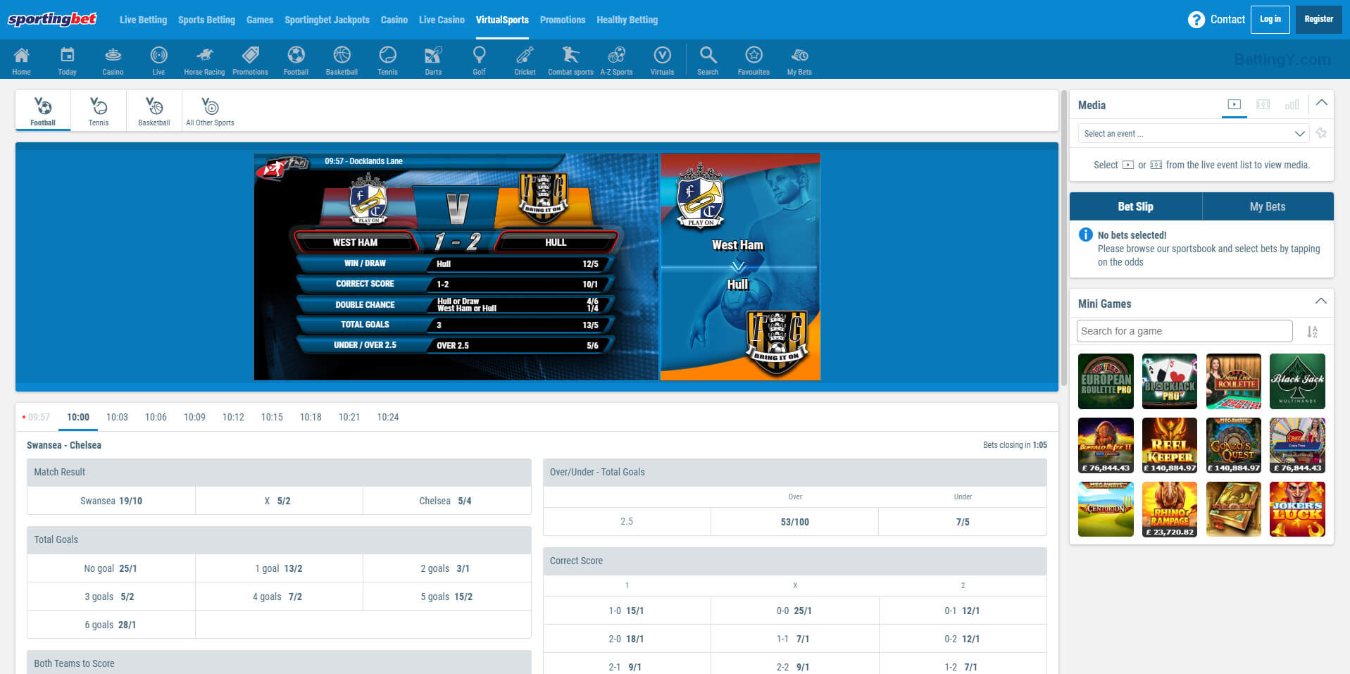 About Virtual Sports at Sportingbet