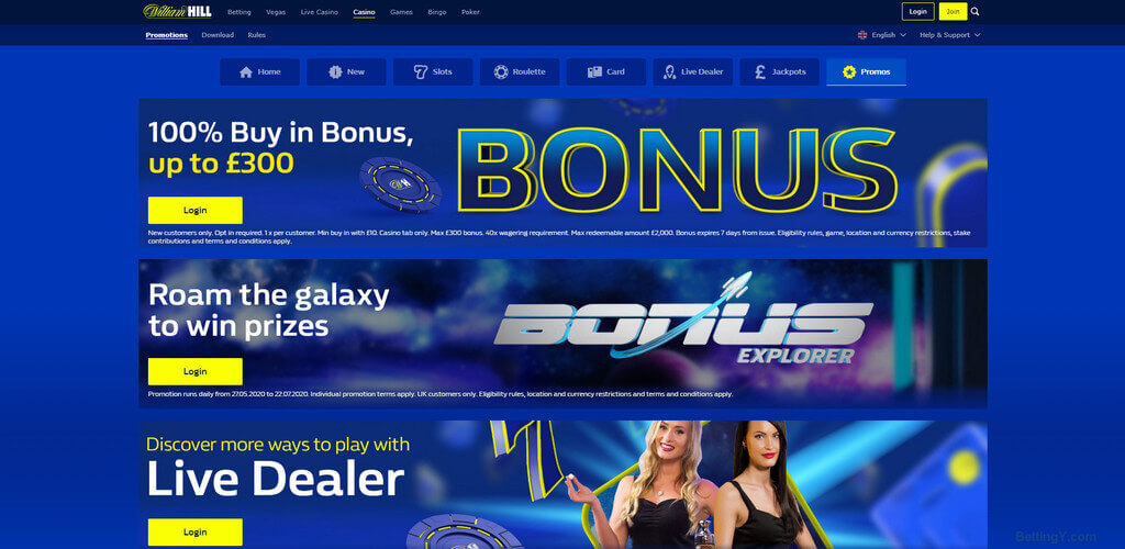 Welcome Bonus offer for the casino